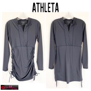ATHLETA Gray Dress with Side Drawstrings